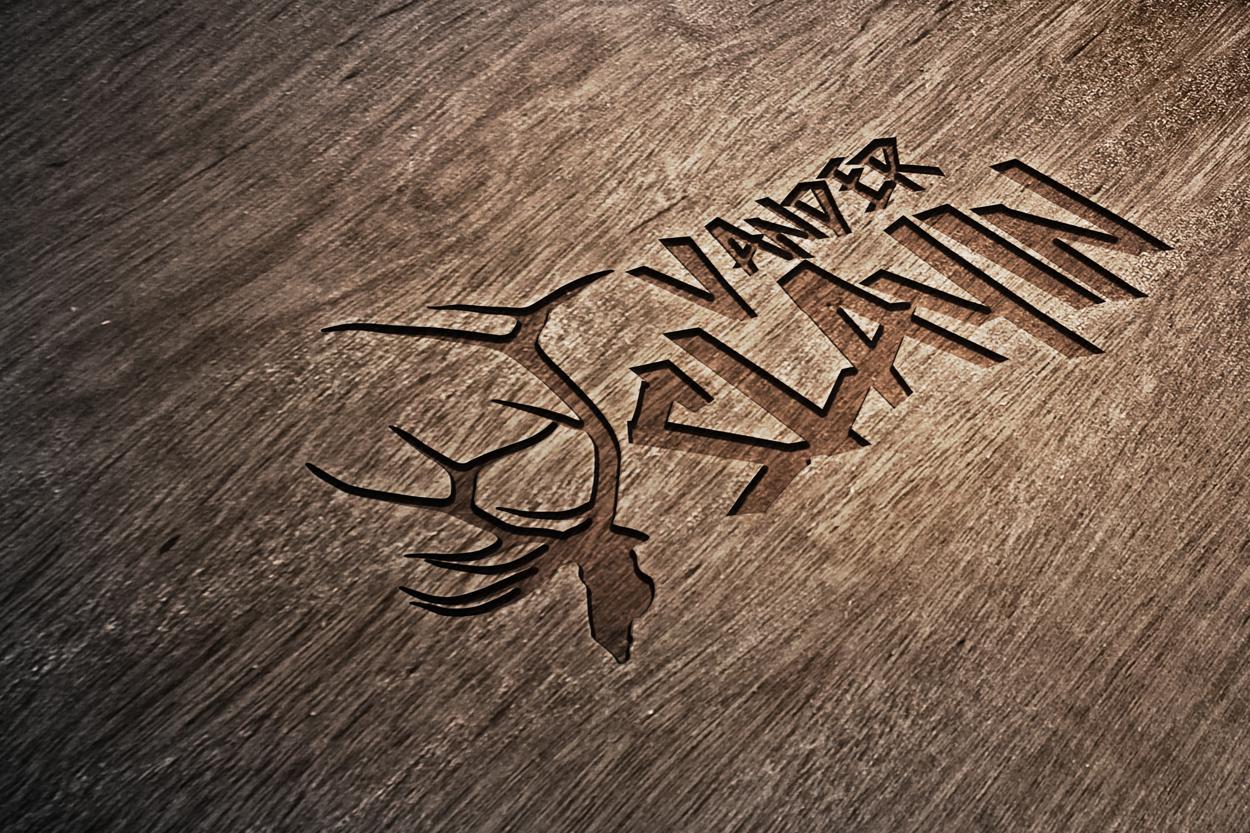 Vander-Slayin-elk-hunting-camp-logo-design