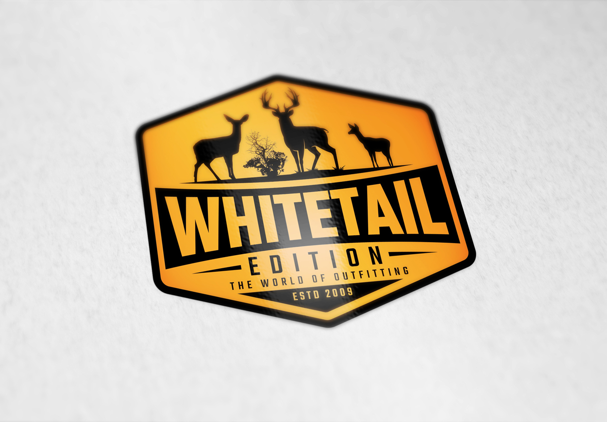 Whitetail-Buck-Hunting-Outfitter-Logo-Design-Orange-Black